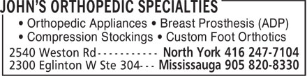 Ads John's Orthopedic Specialties