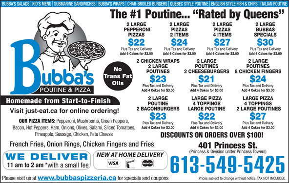 Ads Bubba's Pizzeria