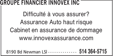 Ads Groupe Financier Innovex Inc