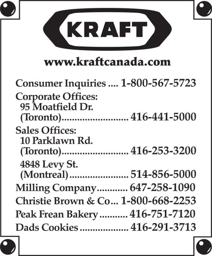 Ads Kraft Canada Inc - Grocery Division