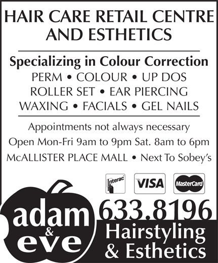 Ads Adam & Eve Hairstyling