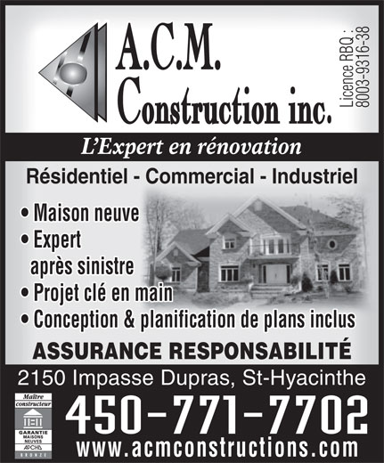 Ads A C M Construction Inc