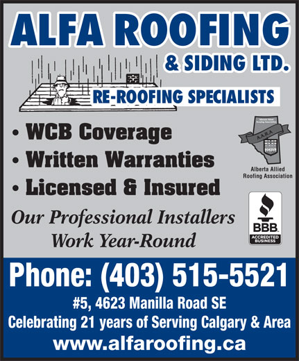 Ads Alfa Roofing & Siding Ltd