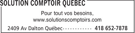 Ads Solution Comptoir Quebec
