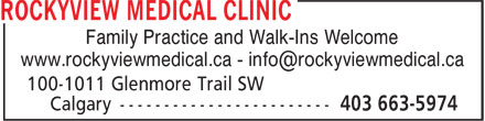Ads Rockyview Medical Clinic