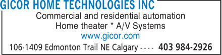 Ads GiCor Home Technologies Inc