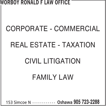 Ads Worboy Ronald F Law Office