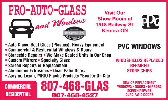 Mannys Auto Repair >> Pro-Auto-Glass - Kenora, ON - 1518 Railway St | Canpages