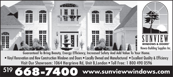 Ads Sunview Windows & Doors