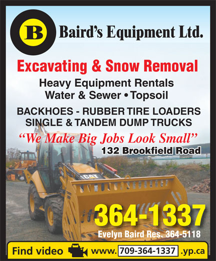 Ads Baird's Equipment Rentals Ltd