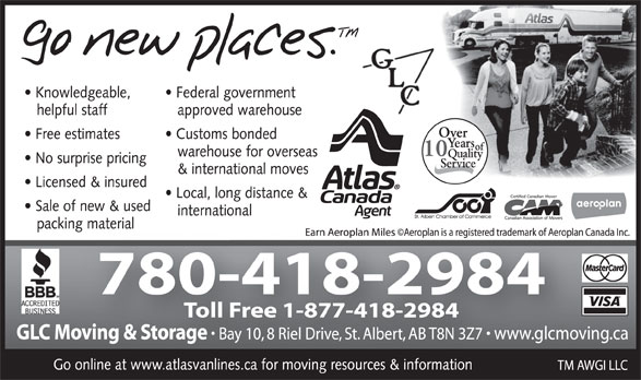 Ads Glc Moving/Atlas Van Lines Agent