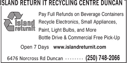 Ads Cowichan Valley Bottle Depot